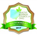 The Healthy Business Council of Ohio Honors us with Gold for Healthy Practices