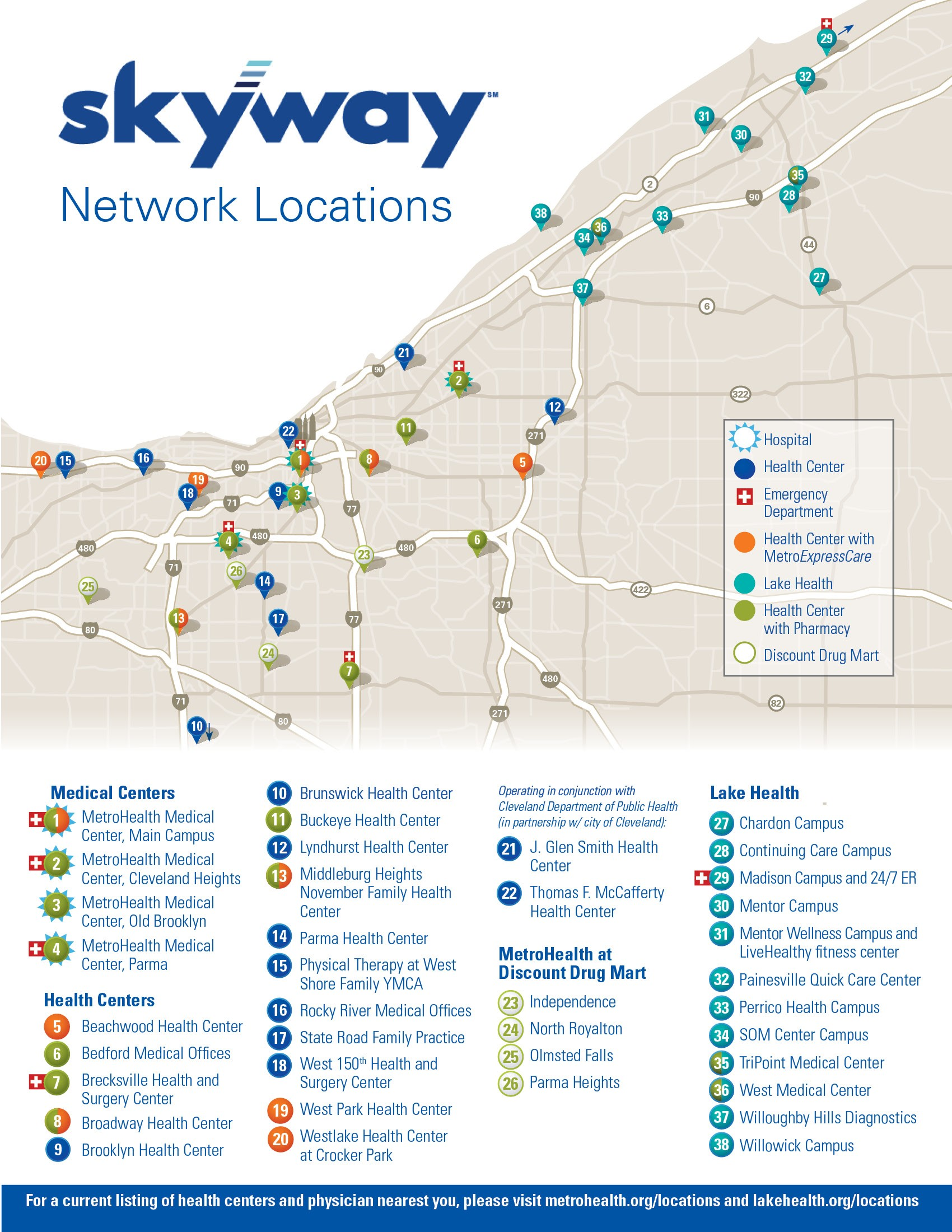 Skyway network map - Skyway